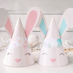 Easter Bunny Party Hats || Printable Bunny Ears || Kid's Easter Party Decor ||  Girl & Boy Bunny ... | Etsy (US)