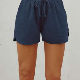 Solid Drawstring Waist Shorts | SHEIN