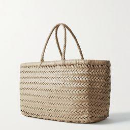Ecru Bamboo Triple Jump small woven leather tote | Dragon Diffusion | NET-A-PORTER | Net-a-Porter (US)