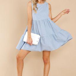 Sweetest Innocence Blue Gingham Dress   Red Dress