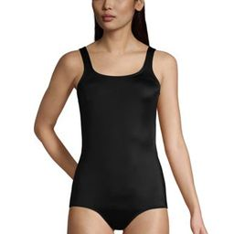 Women's Chlorine Resistant Scoop Neck Soft Cup Tugless Sporty One Piece Swimsuit   Lands' End (US)