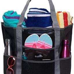 Dejaroo Mesh Beach Bag – Toy Tote Bag – Large Lightweight Market, Grocery & Picnic Tote with ...   Amazon (US)