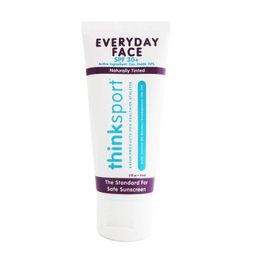 Thinksport Everyday Face Sunscreen, Naturally Tinted, Currant, 2 Ounce (Packaging May Vary)   Amazon (US)