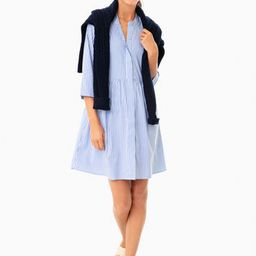 Blue Stripe Royal Shirt Dress   Tuckernuck (US)