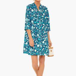 Santorini Bloom Royal Shirt Dress   Tuckernuck (US)