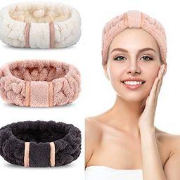 3 Pack Spa Headbands Microfiber Headbands SkinCare Headbands Face Wash Headband Face Washing Head...   Amazon (US)