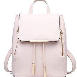 Fashion Shoulder Bag Rucksack PU Leather Women Girls Ladies Backpack Travel bag (Beige) | Amazon (US)
