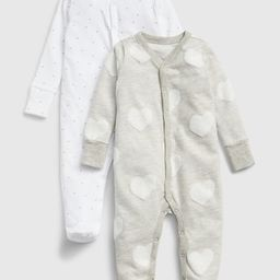 Baby Print Footed One-Piece (2-Pack) | Gap (US)