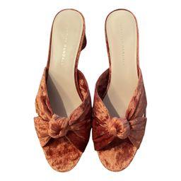 Loeffler Randall Brown Velvet Sandals | Vestiaire Collective (Global)