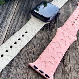 Animal Print Engraved Apple Watch Band  Silicone Apple Bands | Etsy | Etsy (US)