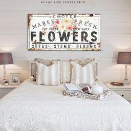 Custom Family Name Sign Vintage Farmhouse Wall Decor Rustic Chic Fresh Flower Market Sign Modern ...   Etsy (US)