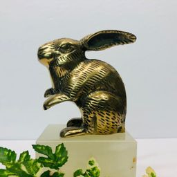 Vintage Brass Rabbit Figurine Brass Bunny Paperweight Mid Century Decor Bohemian Boho Decor | Etsy (US)