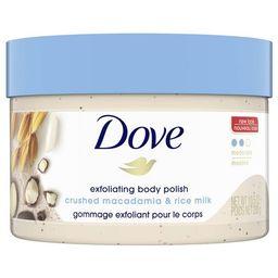 Dove Crushed Macadamia & Rice Milk Exfoliating Body Polish Scrub - 10.5oz   Target