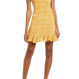 Bardot Floral Ditsy Ruffle Hem Minidress | Nordstrom | Nordstrom