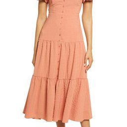 Off the Shoulder Tiered Midi Dress | Nordstrom