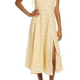 Bardot Floral Ditsy Tie Shoulder Midi Dress | Nordstrom | Nordstrom