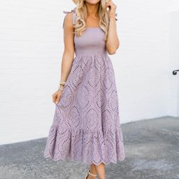 Promise In My Heart Purple Lace Midi Dress | The Pink Lily Boutique