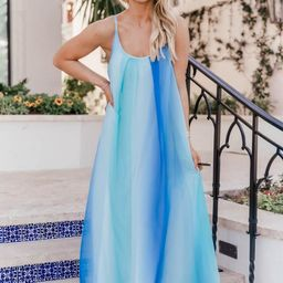 Oceans Of Love Blue Ombre Maxi Dress | The Pink Lily Boutique