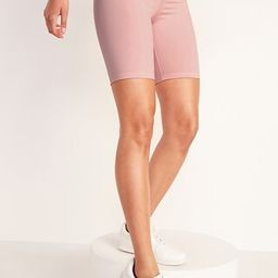 High-Waisted Elevate Compression Biker Shorts for Women - 8-inch inseam   Old Navy (US)