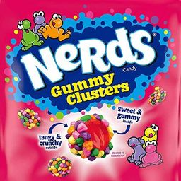 Nerds Gummy Clusters Chewy Candy, 3 Ounce Share Pouch Bags - 12 Count Display Box | Amazon (US)