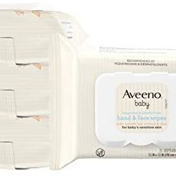 Aveeno Baby Hand & Face Cleansing & Moisturizing Wipes with Oat Extract and Aloe, Fragrance-Free ... | Amazon (US)