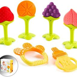 Baby Teething Toys for Newborn Infants (6-Pack) Freezer Safe Infant and Toddler Silicone Teethers... | Amazon (US)