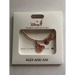 Disney Parks Minnie Donut Snack Food Rose Gold Charm Bracelet Alex & Ani New   Walmart (US)