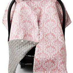 Car Seat Canopy and Nursing Cover Up with Peekaboo Opening - Damask Champagne | Amazon (US)