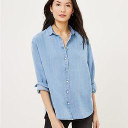 Chambray Relaxed Shirt | LOFT | LOFT