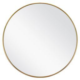 Better Homes & Gardens Gold Metal Round Wall Mirror, 28 Inch   Walmart (US)