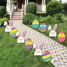 Big Dot of Happiness Hippity Hoppity - Easter Bunny & Egg Yard Decorations - Outdoor Easter Lawn ... | Target