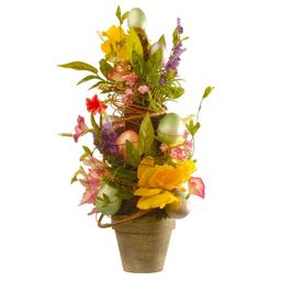 """20"""" Decorated Easter Pot - National Tree Company 