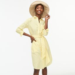 Classic-fit crisp cotton poplin shirtdress   J.Crew US