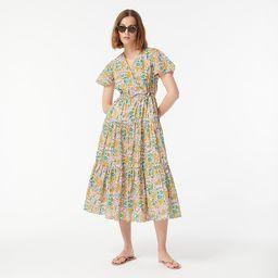 Faux-wrap dress in Liberty® Mini Floral Walk   J.Crew US