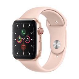 Apple Watch Series 5 GPS + Cellular, 40mm Gold Aluminum Case with Pink Sand Sport Band   Target