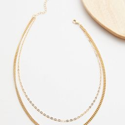 Camilla Double Chain Necklace   Evereve