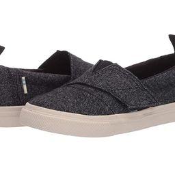 TOMS Kids Aliso Vulcanized (Toddler/Little Kid) (Black Brushed Denim) Kid's Shoes   Zappos