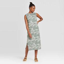 Women's Camo Print Sleeveless Knit Dress - Universal Thread Green S | Target