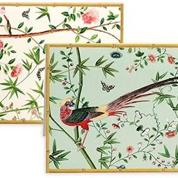 Caspari Chinese Wallpaper Blank Boxed Note Cards in Blue, 16 Cards & Envelopes | Amazon (US)