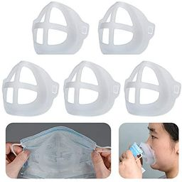 Cool Protection Stand - 3D Mask Bracket - Face Mask Inner Support Frame - Plastic Bracket - More ...   Amazon (US)