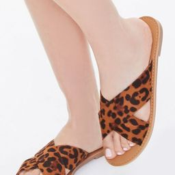 Leopard Crisscross Sandals   Forever 21 (US)