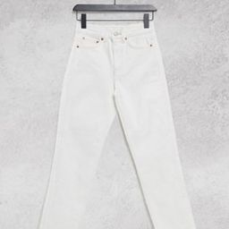 Topshop straight leg jeans in off white | ASOS (Global)