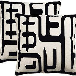"Safavieh Collection Maize Black Throw Pillows (24"" x 24"") (Set of 2) | Amazon (US)"