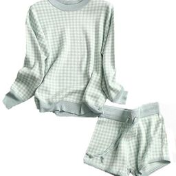 'Everly' Checked Knitted Sweater and Shorts Set (3 Colors) | Goodnight Macaroon