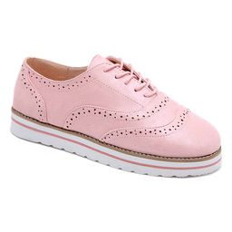 LoLa Shoes Women's Oxfords Pink - Pink Cutout Oxford - Women | Zulily