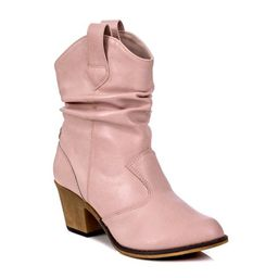 Charles Albert Women's Modern Western Cowboy Distressed Boot with Pull-Up Tabs in Pink Size: 10 | Walmart (US)