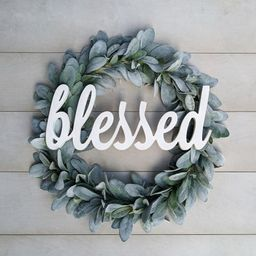 Blessed Word Cutout | Blessed wall hanging | Blessed wood sign | Etsy (US)