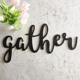 gather Sign // Wood gather Sign // Home Decor // gather Decor // Rustic Wood Sign// Wood Sign // ... | Etsy (US)
