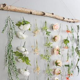 Boho Home Decor Flower Wall Hanging, Boho Flower Wall Hanging, Boho Wall Hanging Plant Wall Hangi... | Etsy (US)