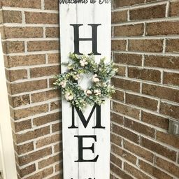 Welcome to our home porch sign, Farmhouse porch sign, home wreath sign, wooden welcome to our hom... | Etsy (US)